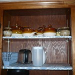 soup crock and bowls kitchen cupboards