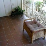 wicker ottoman and wagon